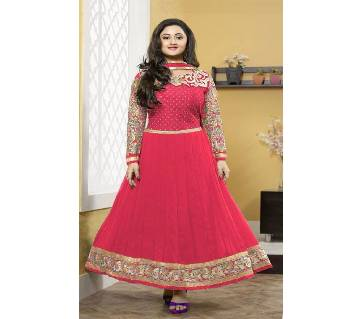 Un-stitched rajdhani voyel cotton block print salwar kameez seblock-254