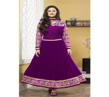 Un-stitched rajdhani voyel cotton block print salwar kameez seblock-373