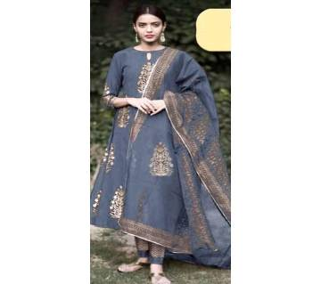Unstiched skin printed Rajdhani voyal cotton  salwar kameez seblock-197