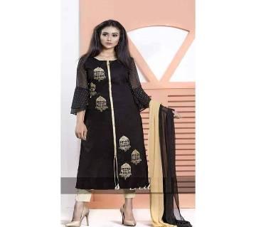 Unstiched block printed Rajdhani voyal cotton  salwar kameez seblock-497