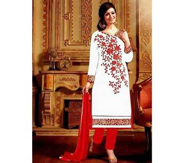 Unstitched Cotton Block Printed Salowar Kameez