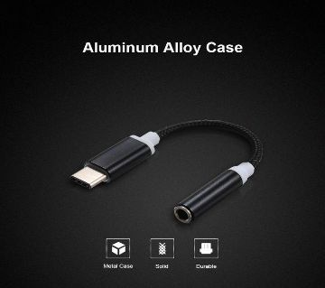 Type C To 3.5mm Audio Adapter,Type C Male To Female AUX Jack Stereo Earphone Headphone Converter,Compatible Type C Devices