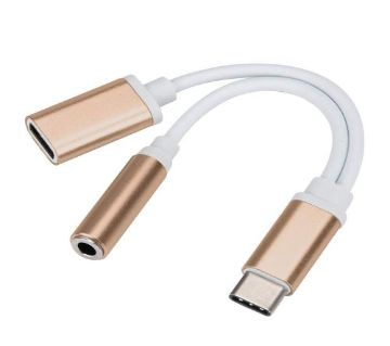 Type C Male to Female 3.5mm Headphone Jack Charging 2 IN 1