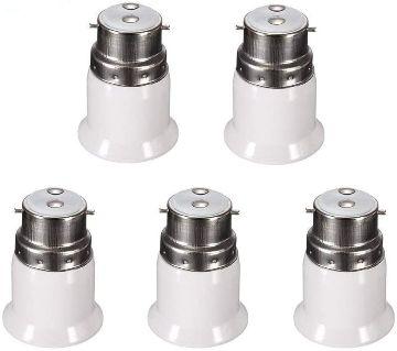 5 pcs Bulb Base Socket ( B22 To E27 ) Converter Adapter