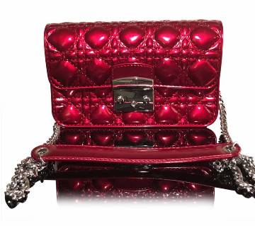 Shinning Red ladies bag