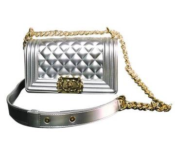 Shinning silver ladies bag