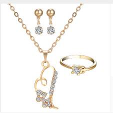Necklace Earring Ring Jewelry Set For Women