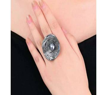 Big Round Silver Ring for woman