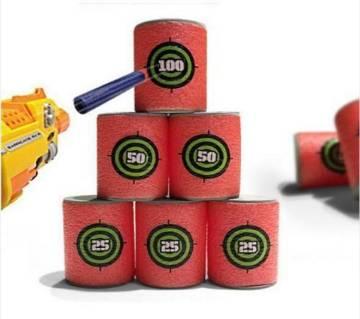 6pcs Dart Foam Gun Shoot Bullet Target