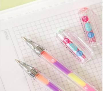 3Pcs Creative 6 Colors in 1 Gel Pen