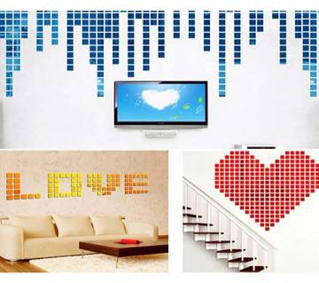 3D Acrylic Mural Wall Stickers