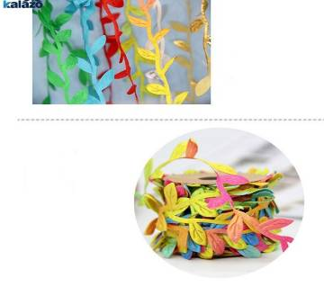 Cloth silk colorful flower