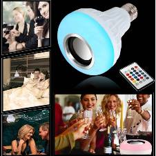 Wireless Bluetooth Speaker with LED Bulb