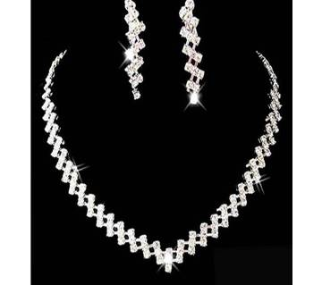 Pageant Jewelry Crystal Rhinestone Necklace Fashion Set