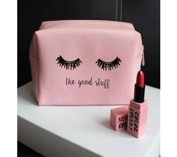 Eyelash Pen Box Large PU Makeup Bags For Girls