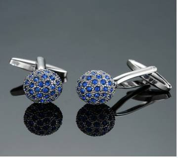 blue crystal ball Cufflinks Men
