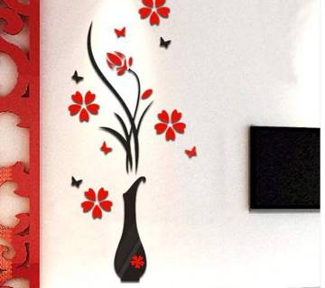 Flower vase 3D Wall Stickers