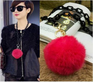 1Pcs Fur Ball Pom Pom Keychain