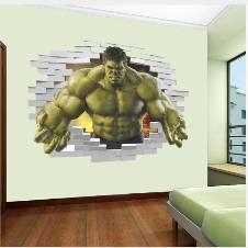 3d effect Avengers Hulk hero wall sticker