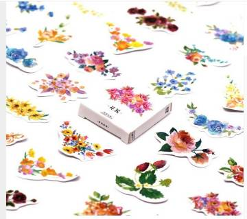 45Pcs set lovely notebook cute inflorescence pattern