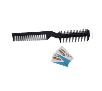 BEST Black Handle Hair Razor Cutting Fine Comb for Lady