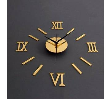 Luxury Large 3D Wall Clock Stickers