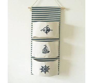 Linen Hanging Storage Bag 3 Pocket