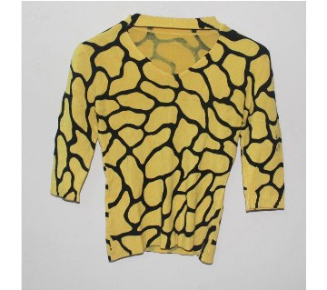 Ladies Woolen V-Neck Sweater