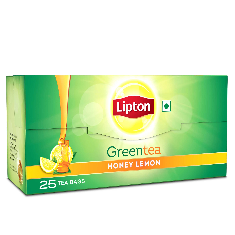 Lipton Green Tea Bag Honey and Lemon 25 pc
