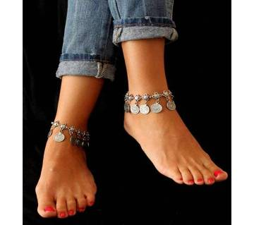 Silver Metal Anklet for Women