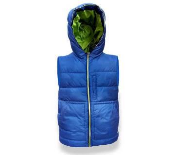 Sleeveless  heavy winter hoodie jacket for Teenager