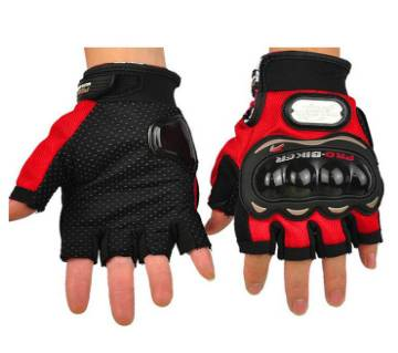 Half Finger Hand Gloves - Red and Black