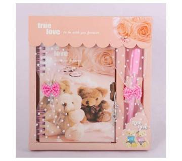 Lock Diary With Pen Gift Set -03