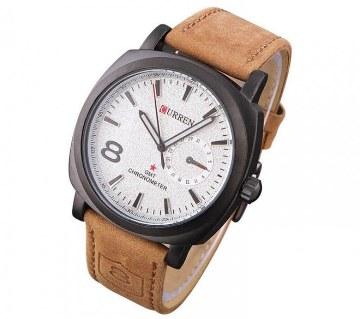 Curren Gents Wristwatch (White Dial)