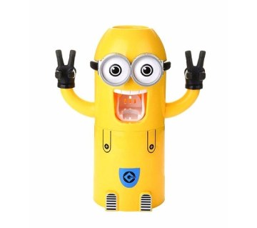 Minions Toothpaste Dispenser & Brush Holder