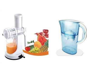 Juice maker+Instant water filter jug combo