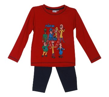 Motu Patlu kids red t-shirt with pant