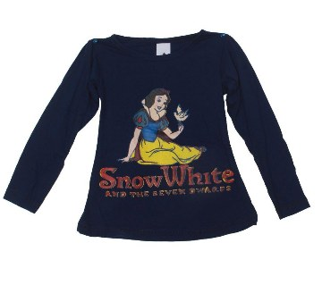 Snow White kids blue cotton t-shirt
