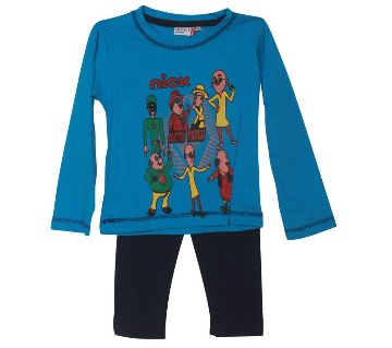Motu Patlu blue kids t-shirt with pant