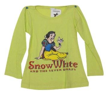 Snow White কিডস ইয়েলো কালার কটন টি-শার্ট