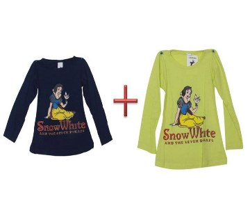 Snow white Kids t-shirt combo