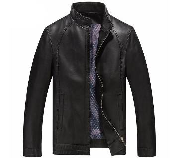 Gents Regular Fit PU Leather Jacket