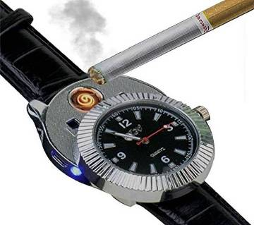 USB Rechargeable Lighter Watch With LED Light