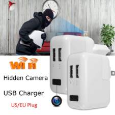 1080P Full HD USB WiFi Hidden Spy Camera Wall Travel Charger