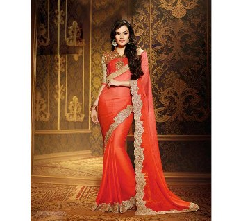 Ladies Satin Georgette Sharee