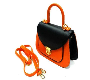 Ladies Mixed Leather Handbag
