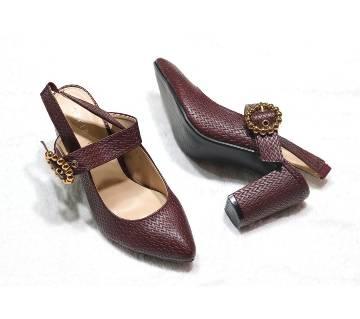Artificial Leather Ladies Heel