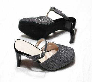 Artificial Leather Ladies Heels Shoes
