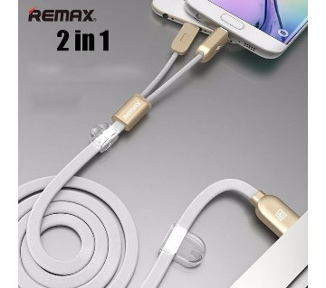 Remax 2 in 1 USB Data Cable iphone 6 & G