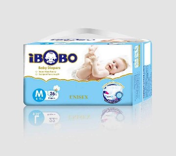 IBOBO বেবি ডায়াপারস (Velcro) M-২৬ পিস